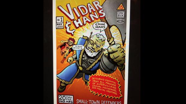 The cover of comic book 'Vidar & Hans'