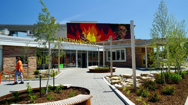 Sherman Phoenix marketplace entrance