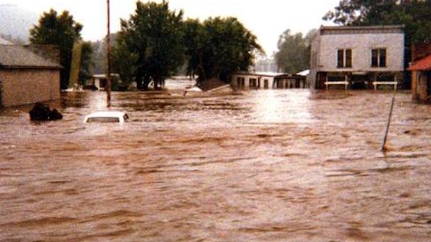 Flooding in Soldiers Grove in July 1978