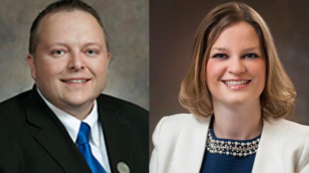 Wisconsin State Representatives Scott Krug and Katrina Shankland