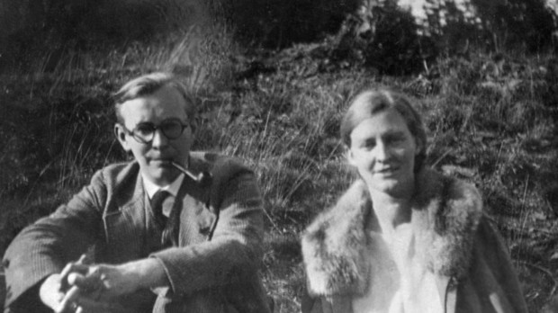 Arvid and Mildred Fish Harnack near Saafeld, Germany, 1930