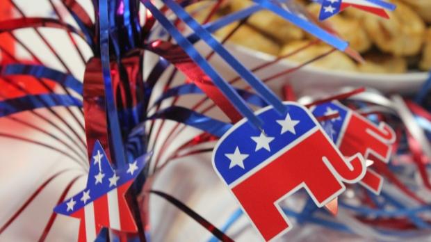 GOP elephant table decoration