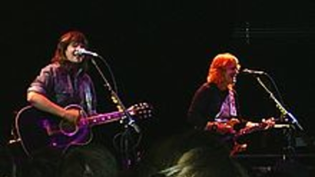 Emily Saliers and Amy Ray, performing as the Indigo Girls