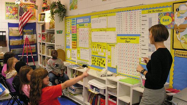 teacher and math class