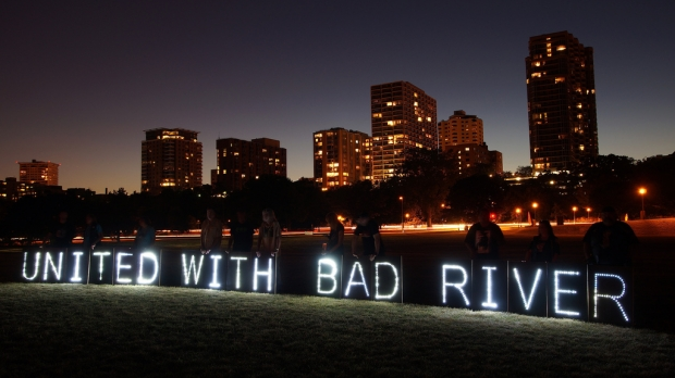 """United With Bad River"" Sign"