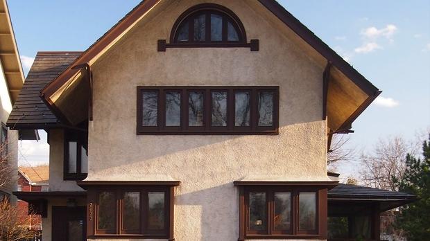 Dr Ward Beebe House stucco, McGhiever