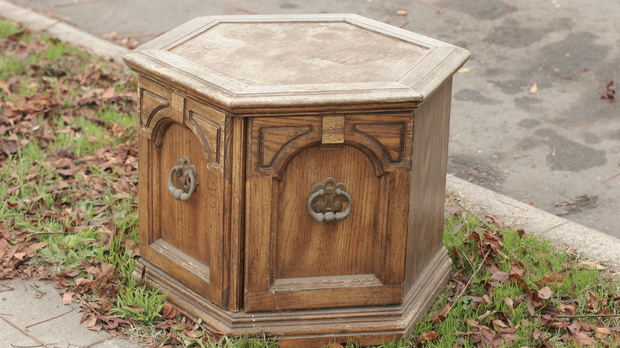 End table by the curb
