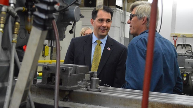 Gov. Walker tours Beyond Vision in Milwaukee