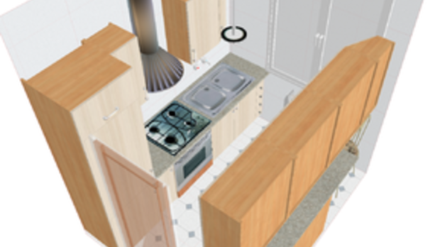 kitchen design, image by Wikimedia Commons user Elektron