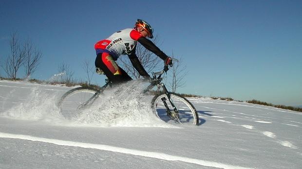Winter biker