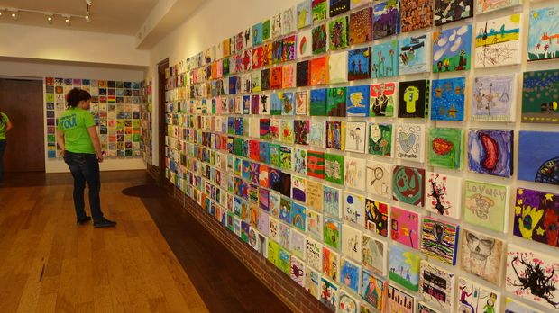 Six thousand works of art are on display at the Pump House until June 28.