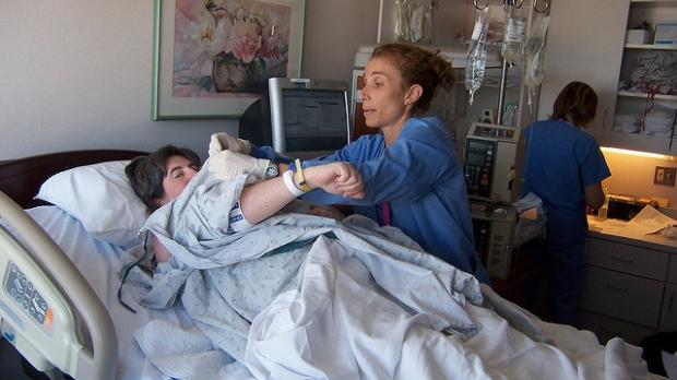 patient in bed, DebMomof3 (CC-BY-ND)
