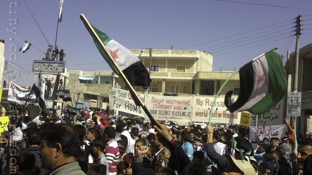 A protest in Syria