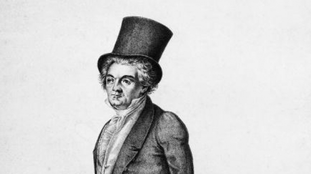 Beethoven, with hat