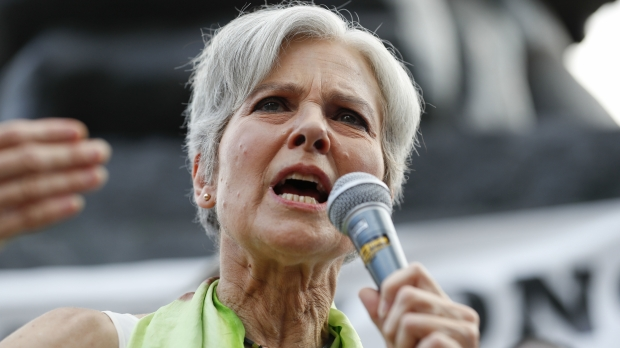 Green Party candidate for president, Jill Stein