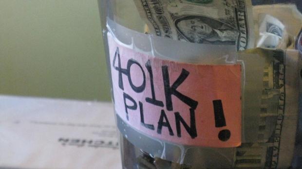 Money in a 401(k) jar