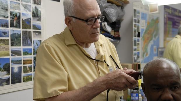 Barber senior citizen elderly