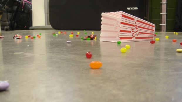 Candy dropped on floor, 5-second rule