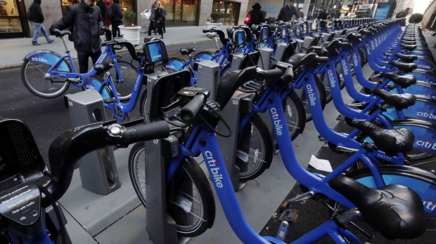 citibike station in New York