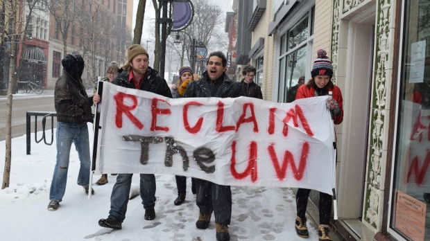 UW students marching