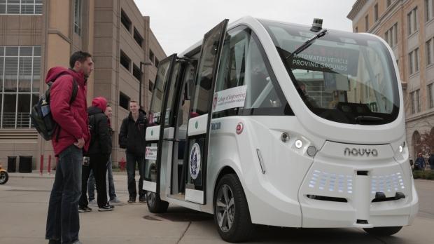 Navya self-driving shuttle