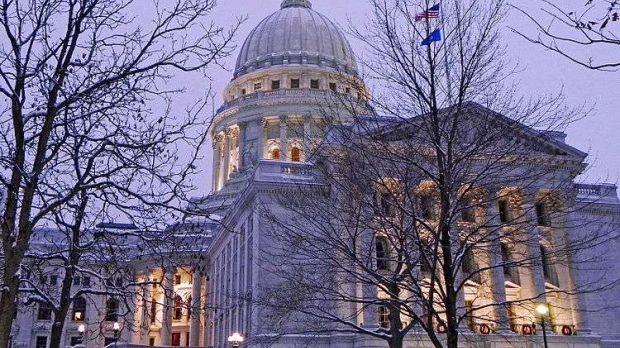 Wisconsin Capitol In Winter