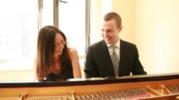Jessica Chow Shinn and Michael Shinn at the piano