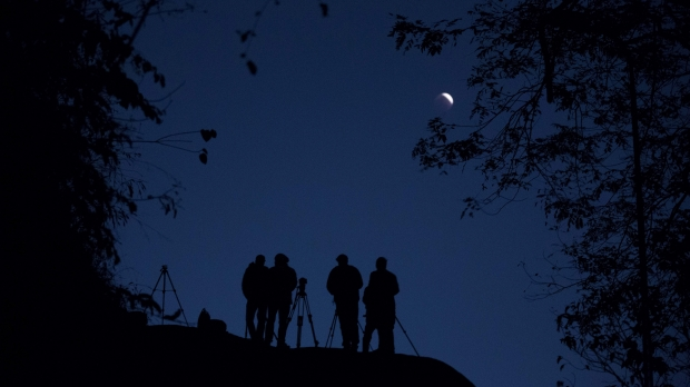 Stargazing Moon Night Astronomy Telescope