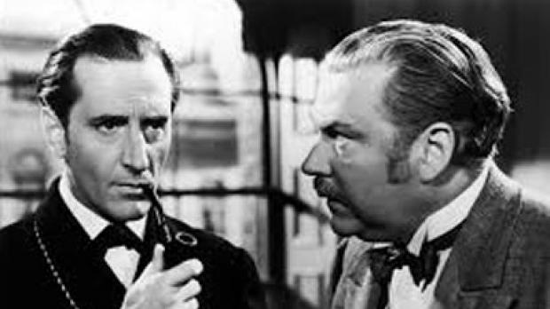 Photo from the radio program Adventures of Sherlock Holmes