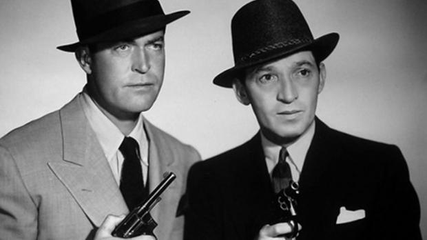 Photo of the cast of 1940s radio program Boston Blackie