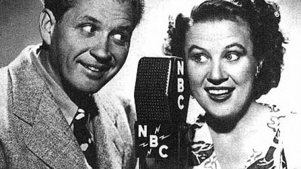 Cast photo from the radio program Fibber McGee and Molly
