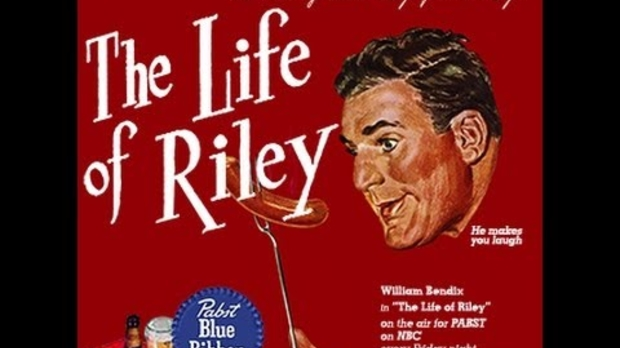 Promotional illustration for the radio program The Life of Riley