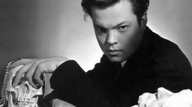 Photo of Orson Welles, star of The Lives of Harry Lime