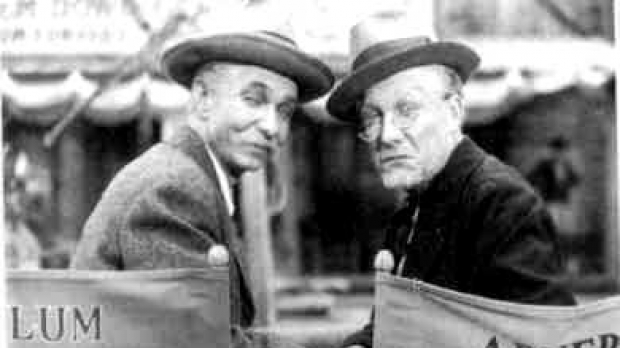 Photo of Chester Lauck and Norris Goff, stars of Lum and Abner