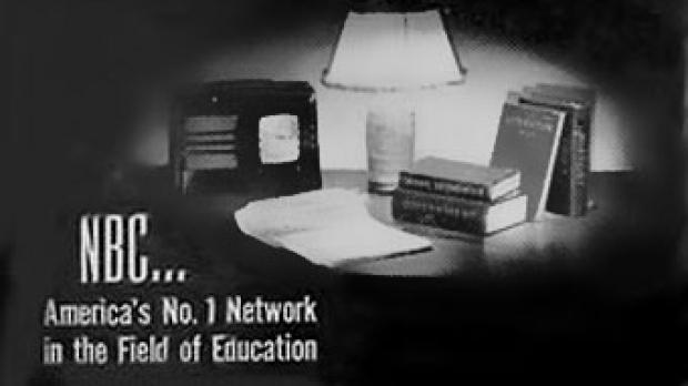 Promo image for the NBC University Theater radio program