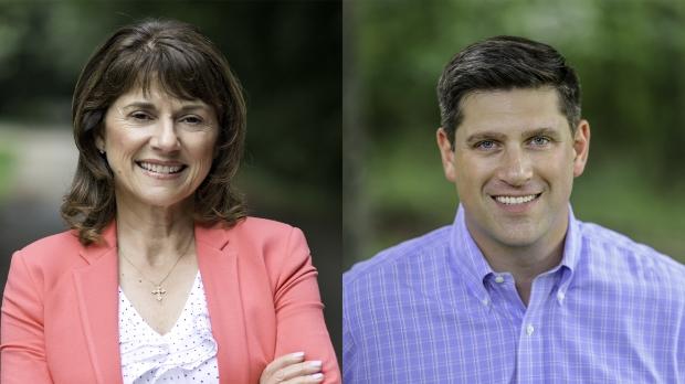 Republican U.S. Senate candidates Leah Vukmir and Kevin Nicholson.