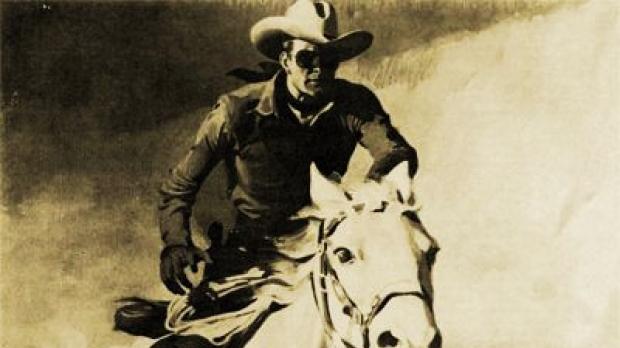 Illustration for the radio program The Lone Ranger
