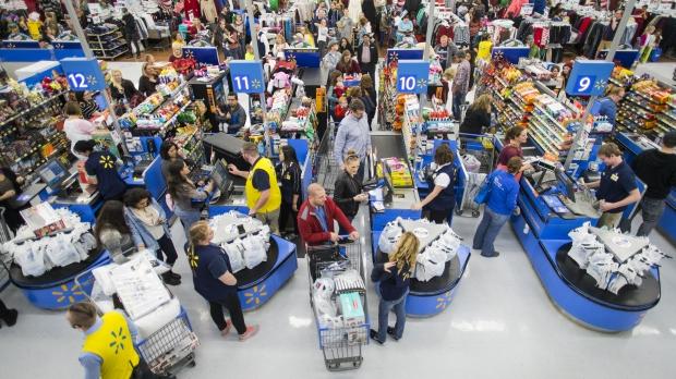 Black Friday shoppers at Walmart