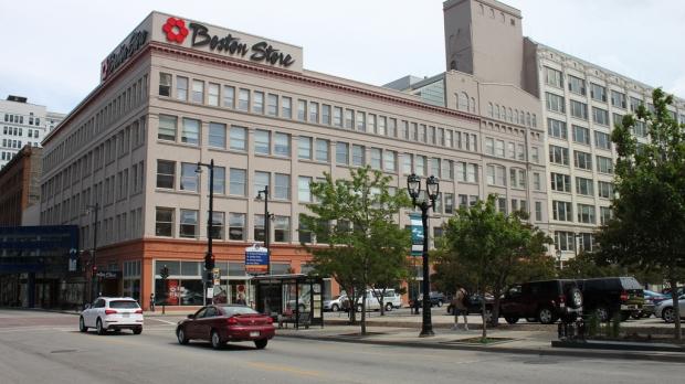 A Boston Store location on a street corner