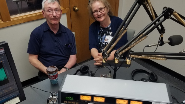 Ed Ramsey and Sheila Weix in the studio