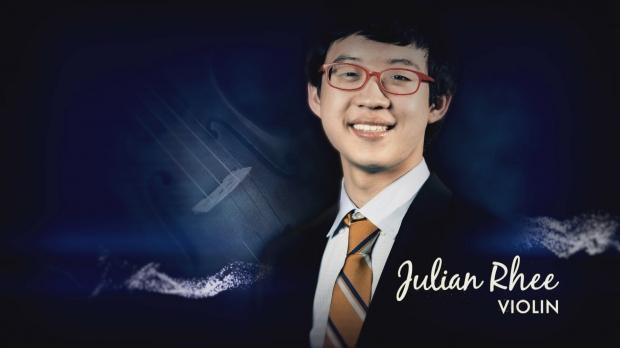 Violinist Julian Rhee (WPT photo)