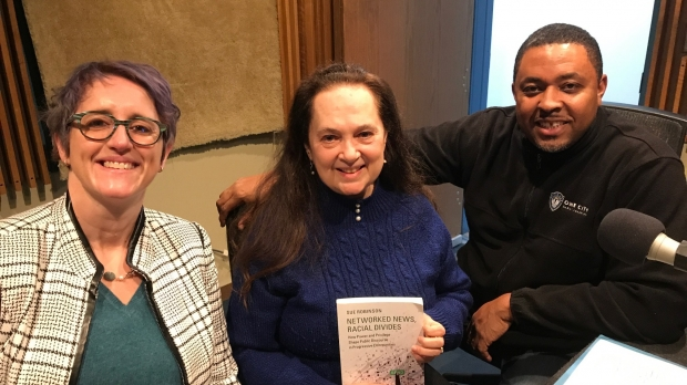 Photo of Sue Robinson, Emily Auerbach, and Kaleem Caire