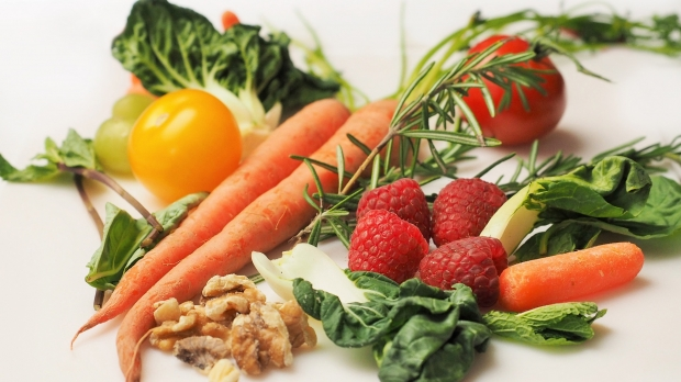 vegetables, herbs and fruit