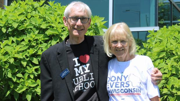 Tony Evers and his wife, Kathy