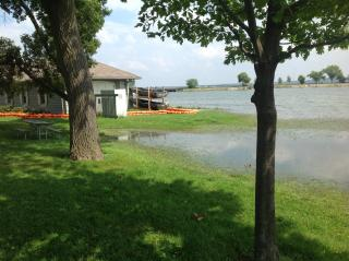 Flooding in the Brittingham neighborhood of Madison on Monday, Aug. 27, 2018.