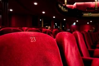 Red velvet movie theater seats