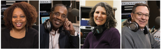 Photo of the hosts for WFMT's Jazz Network