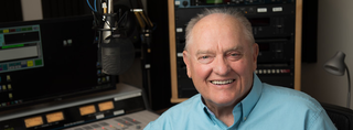 Photo of Larry Meiller in the WPR Studios