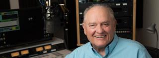 Photo of Larry Meiller in the WPR Studios