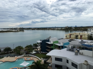View of Caloundra and Brisbane from the Monaco Hotel - Photo by Allen Rieland